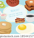 fresh food and drinks flat icons background 18544157