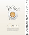 coffee cup time clock concept design background 18544274