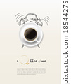 coffee cup time clock concept design background 18544275