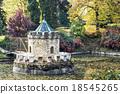 Turret in Bojnice, autumn park 18545265