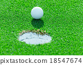 golf ball on the grass 18547674