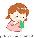 ill girl vomiting cartoon vector 18548750