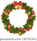 Vector Christmas Wreath with Bells 18550341