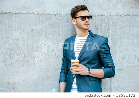 Stock Photo: Concept for stylish young man outdoors