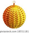 isolated shiny christmas tree decoration 18551181