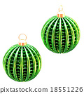 isolated shiny christmas tree decoration 18551226