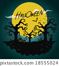 Halloween Background vector 18555024