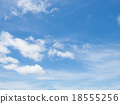 Clear blue sky with white cloud 18555256