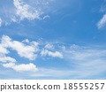 Clear blue sky with white cloud 18555257