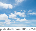 Clear blue sky with white cloud 18555258