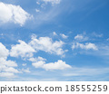 Clear blue sky with white cloud 18555259