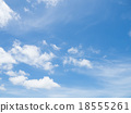 Clear blue sky with white cloud 18555261