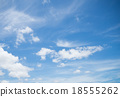 Clear blue sky with white cloud 18555262