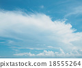 Clear blue sky with white cloud 18555264