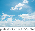Clear blue sky with white cloud 18555267