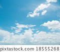 Clear blue sky with white cloud 18555268