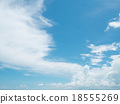 Clear blue sky with white cloud 18555269