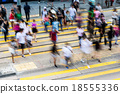 Blur abstract of Hong Kong Busy road 18555336