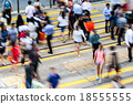 Bokeh view of Hong Kong Busy road 18555555