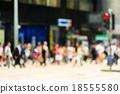 Crosswalk and pedestrian at street in hong kong 18555580