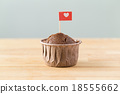 Flag on muffin with a heart shape 18555662