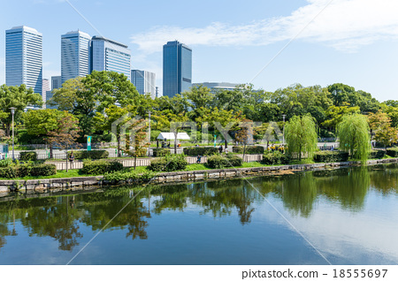 Business area in Osaka 18555697