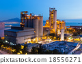 Cement Plant at night 18556271