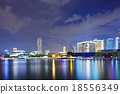 Singapore city at night 18556349