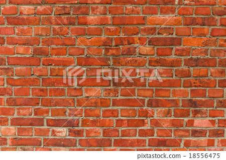 Red brick wall texture background 18556475