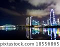 Singapore city skyline at night 18556865