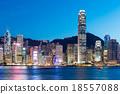 Hong Kong famous night view 18557088