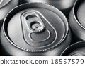 Wet aluminium can with drink 18557579
