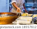 Cooking of Tempura 18557612