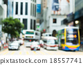 Blurred ivew of Hong Kong city in central district 18557741
