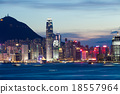 Hong Kong city at night 18557964