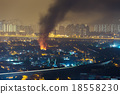 Fire accident in city 18558230