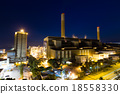 Cement Plant at night 18558330