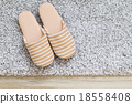 Slipper on carpet 18558408