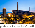 Cement Plant at night 18558508