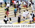 Blur view of Hong Kong Busy street 18558612