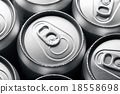Fresh cold cans of soft drink 18558698