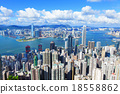 Victoria Harbour, Hong Kong, shot from the Peak 18558862