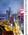 Hong Kong city at night 18559026