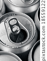 Opened and closed canned drinks 18559122