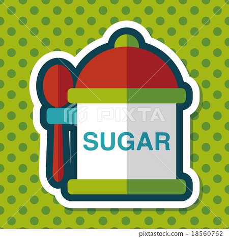 kitchenware sugar flat icon with long shadow,eps10 18560762