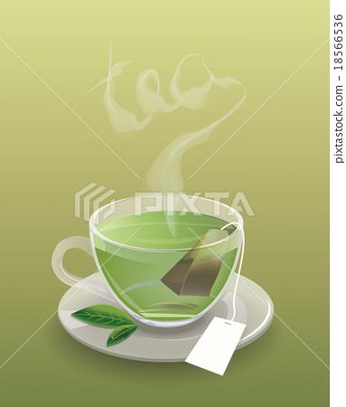 Cup of tea with tea bag 18566536