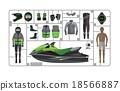 jet ski vector 18566887