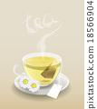 Cup of tea with tea bag 18566904
