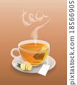Cup of tea with tea bag 18566905