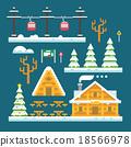 Winter ski resort flat design 18566978